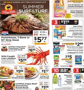 ShopRite Weekly Circular August 5 - August 11, 2018. Summer Surf & Turf!