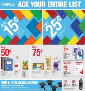 Staples Weekly Ad August 5 - August 11, 2018. Ace Your Entire List!