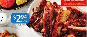 Walmart Weekly Flyer August 31 – September 15, 2018. Pork Baby Back Ribs