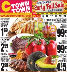 Ctown Weekly Ad September 14 - September 20, 2018. Early Fall Sale!