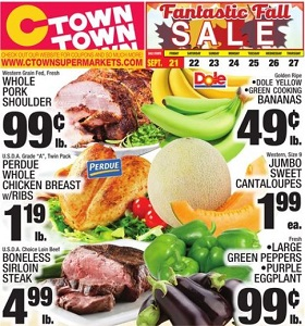 Ctown Weekly Ad September 21 - September 27, 2018. Fantastic Fall Sale!