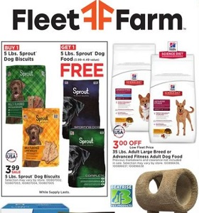 Fleet Farm Weekly Ad September 21, September 27, 2018. Spoil Your Pet Season!