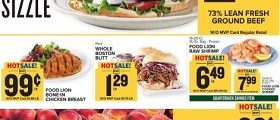 Food Lion Weekly Circular September 26 – October 2, 2018. Fall Prices That Sizzle!