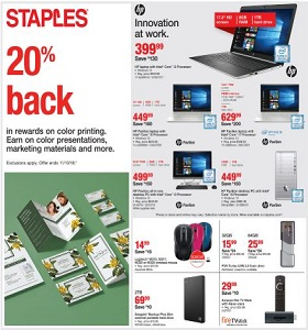 Staples Weekly Ad September 23 - September 29, 2018. Innovation at Work!
