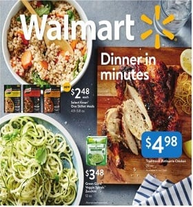 Walmart Weekly Ad September 16 - September 27, 2018. Dinner In Minutes!