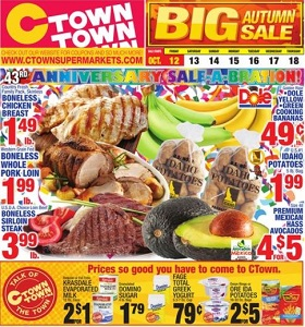 Ctown Weekly Ad October 12 - October 18, 2018. Big Autumn Sale!