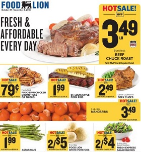 Food Lion Weekly Ad October 31 November 6 2018 Fresh