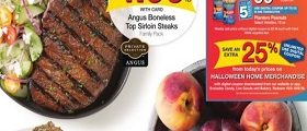 Kroger Weekly Circular October 3 – October 9, 2018. Angus Boneless Top Sirloin Steaks