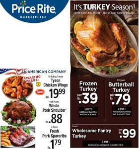 Price Rite Weekly Flyer October 26 - November 1, 2018. It's Turkey Season!
