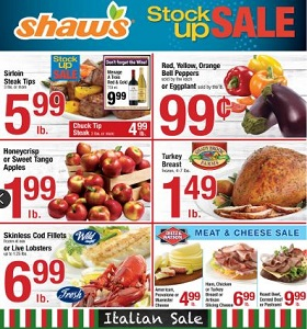 Shaw's Weekly Flyer October 5 - October 11, 2018. Stock Up Sale!