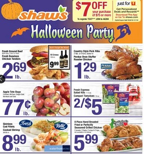 Shaw's Weekly Ad October 26 - November 1, 2018. Halloween Party!