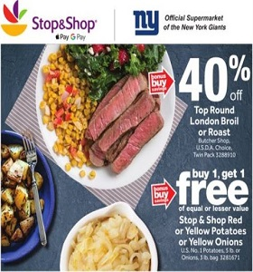 Stop & Shop Weekly Flyer October 19 - October 25, 2018. Top Round London Broil on Sale!