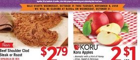 Vallarta Weekly Ad October 31 – November 6, 2018. Koru Apples on Sale!