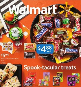 Walmart Weekly Ad October 14 - November 1, 2018. Spook-tacular Treats!