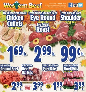 Western Beef Weekly Ad October 18 - October 24, 2018. Fresh Boneless Breast Chicken Cutlets