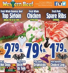 Western Beef Weekly Ad October 25 - October 31, 2018. Halloween Sale!