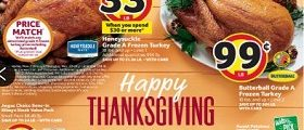 BI-LO Weekly Ad November 14 – November 20, 2018. Honeysuckle Grade A Frozen Turkey