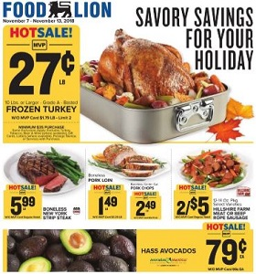 Food Lion Weekly Ad November 7 - November 13, 2018. Savory Savings!