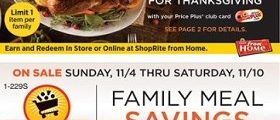 ShopRite Weekly Ad November 4 – November 10, 2018. Family Meal Savings!