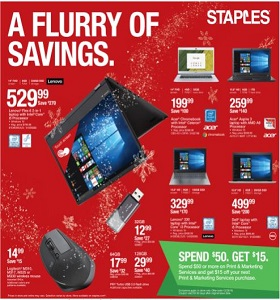 Staples Weekly Flyer November 18 - November 24, 2018. A Flurry Of Savings!