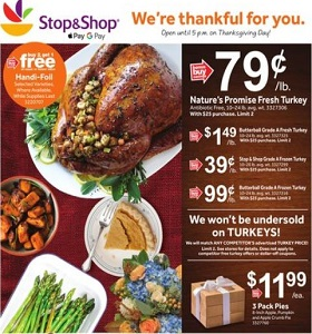 Stop & Shop Weekly Circular November 16 - November 22, 2018. Thanksgiving Holiday Basics!
