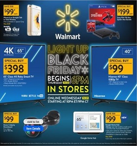 Walmart Black Friday Hot Offers November 22 - November 23, 2018
