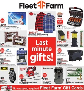 Fleet Farm Weekly Circular December 14 - December 24, 2018. Last Minute Gift!