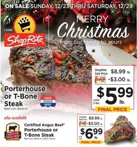 ShopRite Weekly Ad December 23 - December 29, 2018. Merry Christmas!