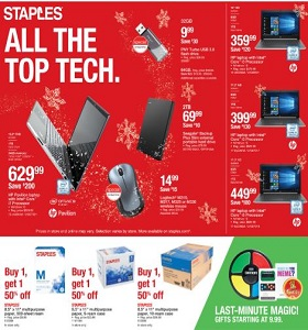 Staples Weekly Ad December 23 - December 29, 2018. All The Top Tech!