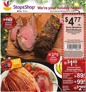 Stop & Shop Weekly Flyer December 14 - December 20, 2018. Holiday Helpers!