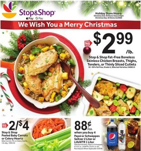 Stop & Shop Weekly Flyer December 21 - December 27, 2018. Merry Christmas!