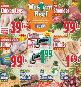 Western Beef Weekly Ad December 20 - December 26, 2018. Fresh Pork Shoulder on Sale!