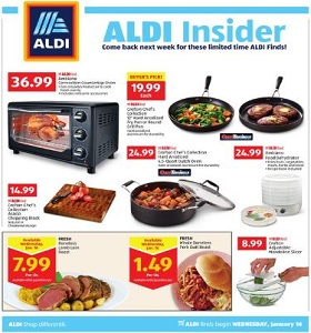 Aldi Weekly Circular January 16 - January 22, 2019. Ambiano Convection Countertop Oven