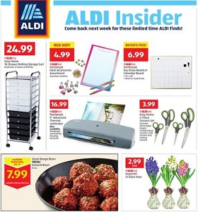 Aldi Weekly Ad January 9 - January 15, 2019. Easy Home 10-Drawer Rolling Storage Cart