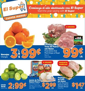 El Super Weekly Ad January 9 - January 15, 2019. Start The Year Saving!