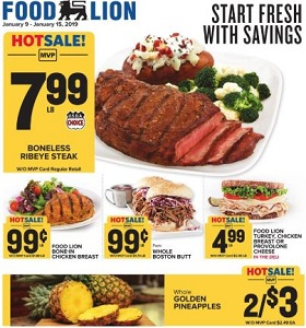 Food Lion Weekly Ad January 9 - January 15, 2019. Start Fresh With Savings!