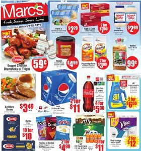 Marc's Weekly Ad January 9 - January 15, 2019. Fresh Savings!