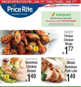 Price Rite Weekly Ad January 11 - January 17, 2019. Perdue Chicken Wings