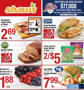 Shaw's Weekly Ad January 11 - January 17, 2019. Playoff Party Favorites!