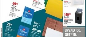 Staples Weekly Flyer January 27 - February 2, 2019. Tax Prep, Done!