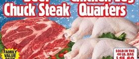 Western Beef Weekly Ad January 10 – January 16, 2019. Fresh Bone-In Beef Chuck Steak