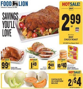 Food Lion Weekly Ad February 6 - February 12, 2019. Savings You'll Love!