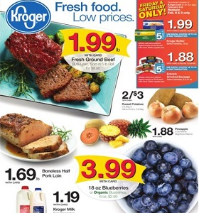 Kroger Weekly Flyer February 6 - February 12, 2019. Fresh Food. Low Prices!