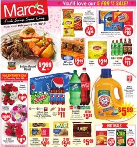 Marc's Weekly Circular February 6 - February 12, 2019. 5 For $5 Sale!