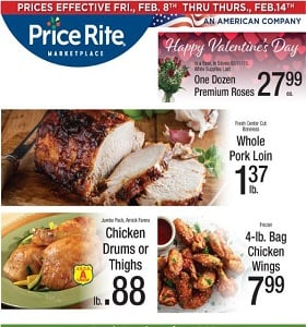 Price Rite Weekly Flyer February 8 - February 14, 2019. Happy Valentine's Day!