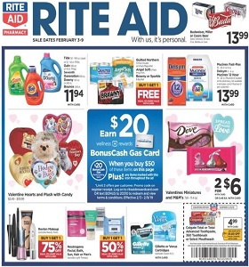 Rite Aid Weekly Circular February 3 - February 9, 2019. Valentines Miniatures on Sale!