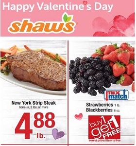 Shaw's Weekly Ad February 8 - February 14, 2019. Happy Valentine's Day!