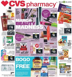 CVS Weekly Ad March 17 - March 23, 2019. March Beauty Madness!
