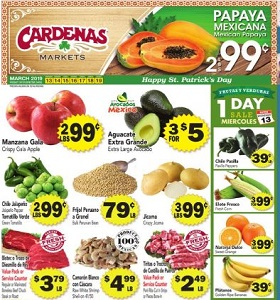 Cardenas Weekly Ad March 13 - March 19, 2019. Mexican Papaya on Sale!
