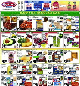 Key Food Weekly Ad March 15 - March 21, 2019. Happy St. Patrick's Day!